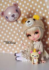 """""""Happy Bear day!"""" (·Yuffie Kisaragi·) Tags: doll pullip mio custom yuzuchan yuzuaesthetic kimmi obitsu rewigged rechipped rilakkuma korilakkuma revoltech"""