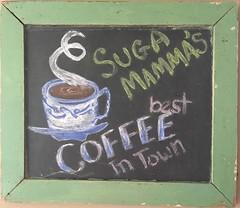 Best Coffee in Town (scmrsgena) Tags: folkart art coffeestation coffeebar vernacular sugar sugga chalk home coffee blackboard