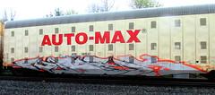 (timetomakethepasta) Tags: freight train graffiti art autorack automax aok yautepec morelos mexico mexican benching selkirk new york photography