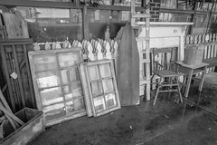 Small Town, USA (Angela D Beck) Tags: nikon d750 monochrome blackandwhite bw blackwhite street walnutcove nc town downtown antiques shop storefront sidewalk