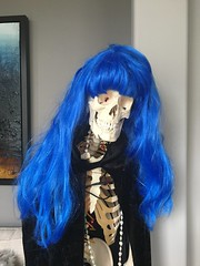 I'm Feeling a Little Blue Today (Explore) (Roses and Broken Hearts) Tags: smileonsaturday hair bluehair bones explore skeleton