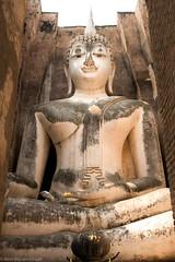 Wat Sri Chum, Sukhothai Thailand. (René Blauwendraat) Tags: thailand sukhothai big buddah nikon d610 2470 28 gold history park watsrichum