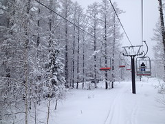 Niseko Hokkaido Ski Lifts 2012 (mintsanddreams) Tags: ski resort hilton niseko hokkaido japan village hotel lift skilift snowboard snowboarding skitrip snow white winter powder snowing
