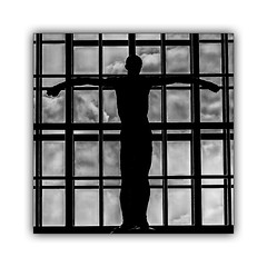 Crucifixion (jldum) Tags: christ monochrome noiretblanc noir crucifixion windows art artist awesome explore blackwhite black white blanc