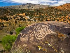 Petroglyph View (xjblue) Tags: 2017 mtb stgeorge area desert race rampage redrock rockart trip petroglyph southernutah utah landscape scenic volcanic rock bullvalleymountains