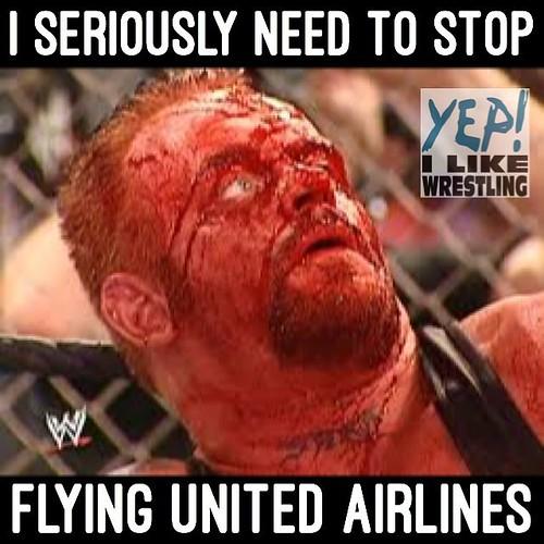 No one is safe from United Airlines #yepilikewrestling #YEPILW #unitedairlines #undertaker #thankyoutaker
