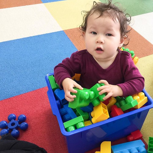 Bucket full of blocks and baby at Star Kids International Preschool, Tokyo. #starkids #international #preschool #school #children #baby #toddler #kids #kinder #kindergarten #daycare #fun #shibakoen #minatoku #tokyo #japan #instakids #instagood #twitter #子