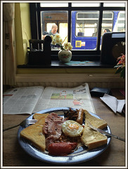 'Trainspotting 3' - the perfect sequel (david.hayes77) Tags: delamere cheshire iphone 2017 breakfast delamerestationcafe friedbreakfast 2d40 trainspotting northern