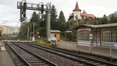 Kurort Rathen - One of the Most Scenic Station I have Seen (HansPermana) Tags: sachsen deutschland germany rathen station train railway scenic