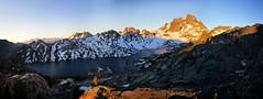 Banner Peak Sunrise over Garnet Lake - Sierra (Bruce Lemons) Tags: johnmuirtrail california anseladamswilderness sierra sierranevada mountains hike backpacking hiking wilderness jmt garnetlake lake bannerpeak mtritter