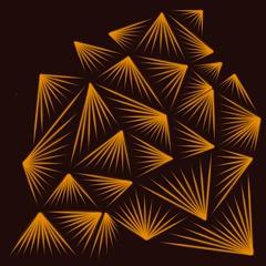 Zentangle Inspired Art; Munchin pattern (marieh1177) Tags: squarebackground pyramid pattern munchin blackbackground yellow art inspired zentangle procreate