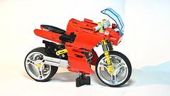 Lego Technic Ducati (Updated Version) (hajdekr) Tags: ducati bike motorbike motorcycle moc lego legotechnic technic myowncreation sheels tires shockabsorber suspension race racer racing speed red supersport sport gp power buildingblocks tip tips update updated version new