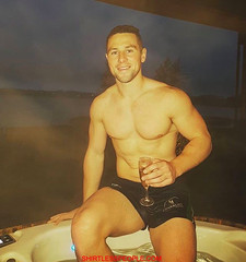 Rugby Player John Cooney shirtless drinking wine is damn sexy (SHIRTLESS PEOPLE) Tags: shirtless people hunks hot guys men homme maenner homens hombre