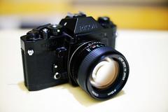 Cosina 55mm 1:1.2 MC on Ricoh KR-10 (Steve only) Tags: ricoh kr10 cameraandlens nex3 zhongyi speedmaster 09535mm 35095 f095 35mm