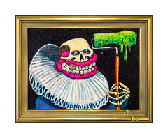 Sweet Toof, East End Mob @BSMT Space, 20th April - 4th May 2017. (Joseph O'Malley64) Tags: sweettoof bc burningcandy burningcandycrew bsmtspace bsmtspacegallery streetartist streetart urbanart publicart freeart graffiti painting framed gallery exhibit forsale giltframe framedartwork skull ruff paintroller rollergang eastendmob exhibition fujix accuracyprecision