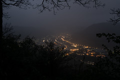 rainy night (Joachim Krawitsch) Tags: joachimkrawitsch pov rainy cloudy night lights street panorama swabian alb unterhausen valley echaz fog foggy uebersberg albtrauf woods