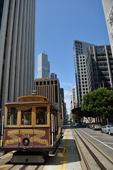 Trolley car in San Francisco (elias_daniel) Tags: sanfrancisco city california trolley transportation architecture blue buildings sky
