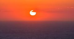 Aegean Sunset (free3yourmind) Tags: aegean sea sunset sun orange colorful ikaria icaria greece greek islands minimal