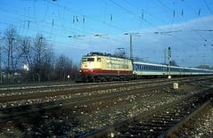 103 189  Karlsruhe  08.02.98 (w. + h. brutzer) Tags: karlsruhe eisenbahn eisenbahnen train trains deutschland germany elok eloks railway lokomotive locomotive zug 103 db webru e03 analog nikon