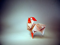 Rooster - Saku Saku (Rui.Roda) Tags: origami papiroflexia papierfalten coq galo gallo rooster saku