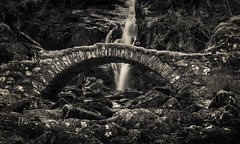 Bean Nighe (Ian McClure) Tags: glen lyonmonopentax bridge waterfall perthshire scotland