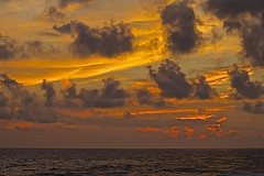 Chaotic Sunset (showmesavings) Tags: sunset florida chaotic clouds storm ocean waves