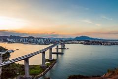 Third Bridge (perucones) Tags: bridge mestrealvaro sea sunset vitoria brazil espiritosanto water landscape