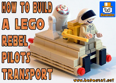 REBEL CART VIDEO INSTRUCTIONS 2 (baronsat) Tags: lego star wars rebel base vehicle bricks minifigure how to build free instructions model custom moc sw esb rotj space scifi movie baronsat cart transport yavin4 temple video youtube