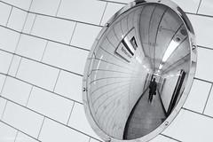 Round The World. (sdupimages) Tags: 7dwf mirrors miroir reflection rue street subway metro underground nb bw noirblanc blackwhite londres london
