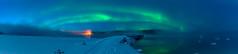 hazy northern lights (SeALighT!) Tags: sweden sverige schweden lapland lappland arjeplog bridge river snow haze aurora panorama