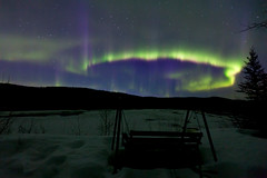 042017 - Geomagnetic Shenanigans (Nathan A) Tags: alaska ak fairbanks salcha northstar river spring cold ice snow night aurora auroraborealis northernlights nightsky stars farnorth geomagnetic green bench swing view relax nature outdoors beauty skygazing