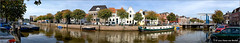 Zwolle - Panorama (Hans van Bockel) Tags: thenetherlands zwolle hansvanbockel nikon d200 1024mm pano panorama thorbeckegracht ophaalbrug architectuur hollands gracht water kanaal haven
