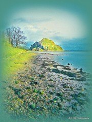 Dumbarton Rock(s) (Rollingstone1) Tags: dumbartonrock dumbartoncastle dumbarton scotland castle rock shore boulders rocks firthofclyde riverclyde river sea water sky art artistic landscape colour textured
