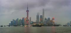 Emergence (merbert2012) Tags: china fog clouds shanghai longexposure panorama lights reflection skyline nikond800 cityscape city travel reisen water thebund