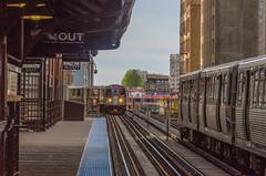 Orange Line to Midway (pattyg24) Tags: chicago el illinois orangeline trainstation elevatedtrain traintracks
