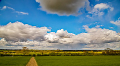 Rural landscape (Peter Leigh50) Tags: rural landscape leicestershire foxton field farmland canal footpath path sky clouds uk canon 6d eos