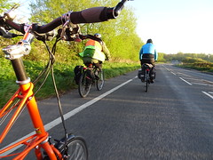 On our way (stevenbrandist) Tags: commute commuting bicycle road transport moulton tsr spaceframe orange health