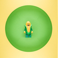 Corn Suit Guy! (kentonanderson) Tags: cornsuitguy corn suit guy minifigure series17 series 17 collectible minifigures minimalist green yellow toyphotography afol lego legos toy
