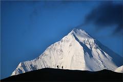 Dhaulagiri in the early morning sun (Bernergieu) Tags: nepal mountains himalaya dhaulagiri sky shadows
