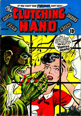 ClutchingHand (kevin63) Tags: lightner comicbook old vintage retro antique cover internetarchive attribution clutching hand horror lurid green walking corpse window woman exploitation sensationalism fifties 50s nasty evil vile horrible gruesome frightened fear ghastly rotten
