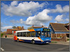 34652, Minnis Road (Jason 87030) Tags: dennis dart stagecoach slf pointer canon eos 50d sunny sky cloud kent thanet birchington holiday april minisrd road houses break gx54dxc easter 34642 plaxton vehicle bus transit color colour colourful bright light cool nice scene image frame border