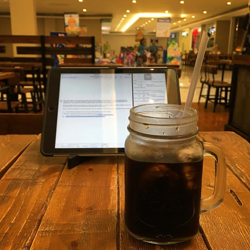 reviewing while enjoying a mug of yirgacheffe cold brew #coffee #theeaternet