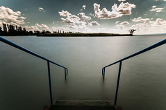 Charm [explored] (mmmt) Tags: summer sky lake water nikon long exposure angle wide steps ultra balaton density haida neutral uwa plattensee smoot d90 12244 nd3 nd1000 ndx1000
