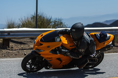 Kawasaki Ninja ZX-10R (Have Fun SVO) Tags: road street bike yellow highway snake ninja hill helmet canyon motorcycle curve mulholland spotting kawasaki zx rockstore agv 10r