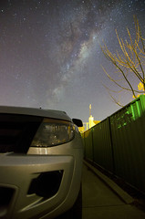 View from my driveway ( Indigo Skies Photography ) Tags: camera longexposure sky house colour tree home car night digital fence lens stars photography photo aperture nikon flickr image australia wideangle victoria iso tokina driveway nighttime galaxy vehicle colourful universe highiso milkyway echuca humestreet galacticcentre tokina1116mmf28 nikond7000 raychristy