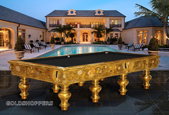 Golden billiard table (The Goldshoppers) Tags: golden most expensive billiard mostexpensive
