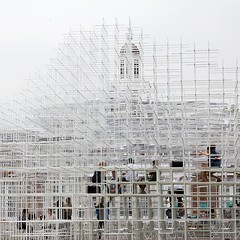 Serpentine Gallery Pavilion 2013, by Sou Fujimoto (chrisjohnbeckett) Tags: people white london art public architecture square climb open cage structure architect frame pavilion serpentinegallery londonist 2013 canonef24105mmf4lisusm temporarystructure soufujimoto chrisbeckett
