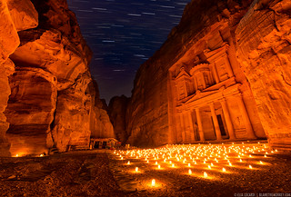 Time Stands Still - Petra By Night, Jordan