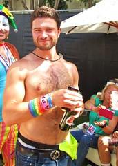 LA PrideSun 267 (danimaniacs) Tags: shirtless hairy man hot sexy guy hair beard la losangeles body hunk jeans denim gaypride 2013 lapridesun
