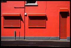 Red Wall (Feldore) Tags: street door city ireland windows red wall paint painted sony belfast shutters northern mchugh rx100 feldore
